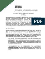 Aviso - Código y Trámite Certificado de Antecedentes Judiciales