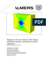 3D Crack Analysis With Abaqus