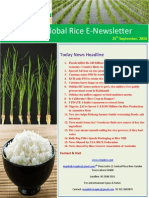 25th September 2014 Daily Global Rice E-Newsletter by Riceplus Magazine