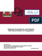 Guidelines Coagulopathy and Regional Anaesthesia