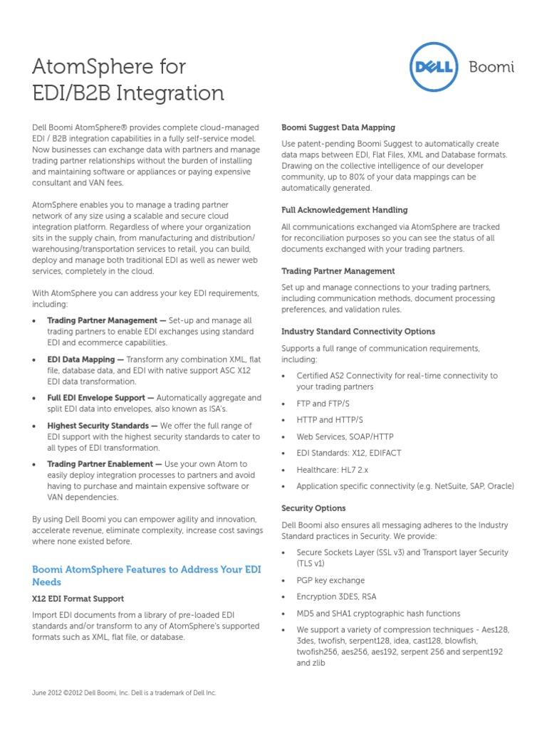 Ds Dell Boomi Edi b2b Integration | Electronic Data