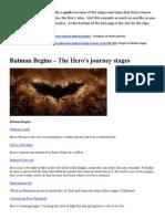 Journey for Batman Begins