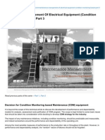 Maintenance Management of Electrical Equipment Condition Monitoring Based Part 3