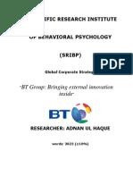 British Telecommunication- Global Corporate Strategy-Britsh Telecommunication
