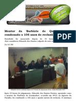 Mentor Da 'Barbárie de Queimadas' é Condenado a 106 Anos de Reclusão