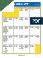 Oakmont UMC October 2014 Calendar