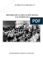 Cuadernos de Historia de La Educación (Núm.4) - Historia de La Educación Social y Su Enseñanza
