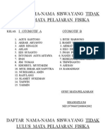 Daftar Nama''Yg Tdk Lulus