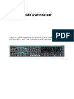 Tide Synth Manual