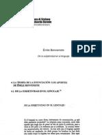 5 Benveniste - De La Subjetividad en El Lenguaje5