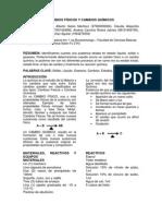 Cambios Físicos y Cambios Químicos Practica 4 Quimica
