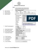 Format Verifikasi Data SDN 3 Margaharja 2013