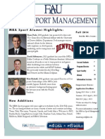 MBA Sport Newsletter Fall 2014