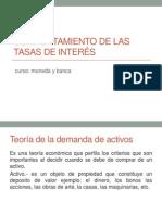 Comportamiento de Las Tasas de Interés TEMA 3