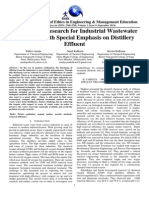 A Review on Research for Industrial Wastewater Treatment With Special Emphasis on Distillery Effluent