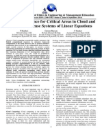 Security Guidance for Critical Areas in Cloud and Solution of Dense Systems of Linear Equations