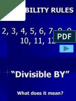 1. DivisabilityRules
