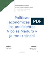 Políticas Económicas-Problemática de Vzla