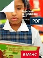 Reporte de Sostenibilidad Rimac2013 v1