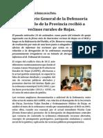 El Secretario General Del Defensor Del Pueblo Bonaerenses Recibió a Vecinos Rurales de Rojas