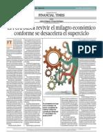 Perú Busca Revivir El Milagro Económico_El Comercio 26-09-2014