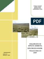 Declaracion de Impacto Ambiental Puquio Mina Final 200912 PDF