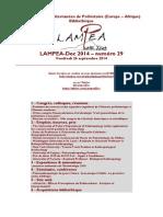 LAMPEA-Doc 2014 – numéro 29 / Vendredi 26 septembre 2014