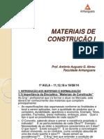 Materiais de Construção i - 1ª Aula