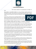 """07-07-2011  Guillermo Padrés realizó  la doceava edición de """"Tu gobernador en tu Radio"""", donde informó sobre el avance en materia de educación, obras de agua potable, alumbrado público, vivienda, cultura y obras.  B071137"""