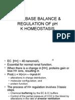 Acid Base Balance & Regulation of Ph