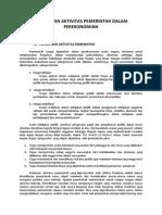 Fungsi Dan Aktifitas Pemerintah Dalam Perekonomian