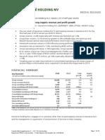 Heineken Holding NV 2014 Half Year Results Publication
