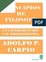 Principios de Filosofía, Una Introducción a Su Problemática, Adolfo Carpio