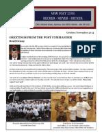 VFW Newsletter|Oct.Nov 2014