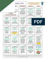 elementary october 2014 menu front