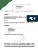 Caracterización de una bomba centrífuga