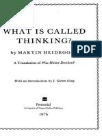 Heidegger Thinking