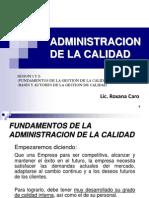 Adm Calidad Sesion 1 y 2 2014