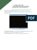 Basic VLSI Layout Design Using Microwind