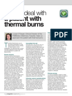 How-To-August-2014 2014How to Deal With a Patient With Thermal BurnsImmediate