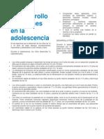 El Desarrollo de Jóvenes en La Adolescencia