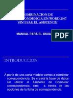 combinar correspondencia en word2007 presentacion