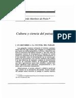 Cultura y Ciencia Del Paisaje
