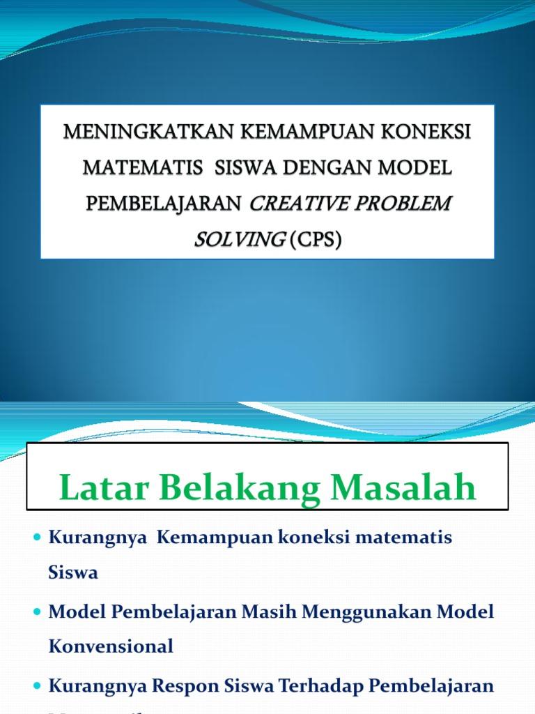 creative problem solving (cps) matematis