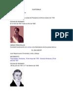 Primero Presidentes de Centroamerica