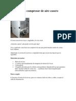 Fabricar Un Compresor de Aire