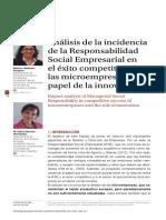 Análisis de la incidencia de la Responsabilidad Social Empresarial en el éxito competitivo de las microempresas