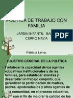 Politica de Trabajo Con Familia