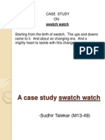 Swatch Watch a Case Study
