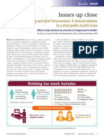 Alcohol screening and brief intervention